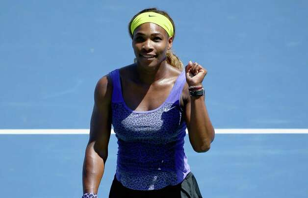 CINCINNATI, OH - AUGUST 15:  Serena Williams celebrates after the match against Jelena Jankovic of Serbia on Day 7 of the Western & Southern Open on August 15, 2014 at the Linder Family Tennis Center in Cincinnati,Ohio.  (Photo by Andy Lyons/Getty Images) ORG XMIT: 506646323 Photo: Andy Lyons / 2014 Getty Images