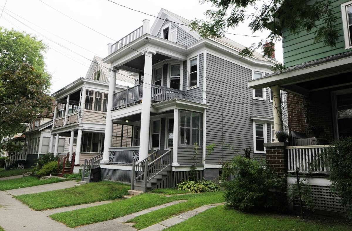 Former Washington Ave. home of Phyllis Stone, a low-key and an unknown millionaire who died at 91 last year and gave nearly $900,000 to the United Way of the Greater Capital Region, Wednesday, Aug, 13, 2014, in Albany, N.Y. (Will Waldron/Times Union)