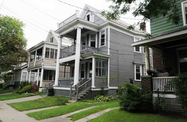 Former Washington Ave. home of Phyllis Stone, a low-key and an unknown millionaire who died at 91 last year and gave nearly $900,000 to the United Way of the Greater Capital Region, Wednesday, Aug, 13, 2014, in Albany, N.Y. (Will Waldron/Times Union) Photo: WW / 00028167A