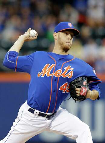 New York Mets' Zack Wheeler delivers a pitch during the first inning of a baseball game against the Chicago Cubs, Friday, Aug. 15, 2014, in New York. (AP Photo/Frank Franklin II) ORG XMIT: NYM102 Photo: Frank Franklin II / AP