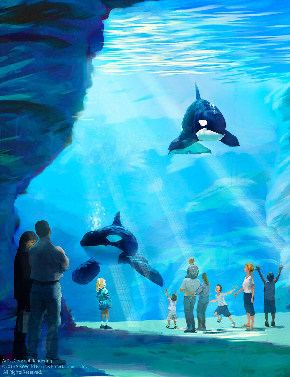 SeaWorld plans to build new killer whale, sea lion and dolphin habitats at its parks in San Antonio, San Diego, Calif., and Orlando, Fla.