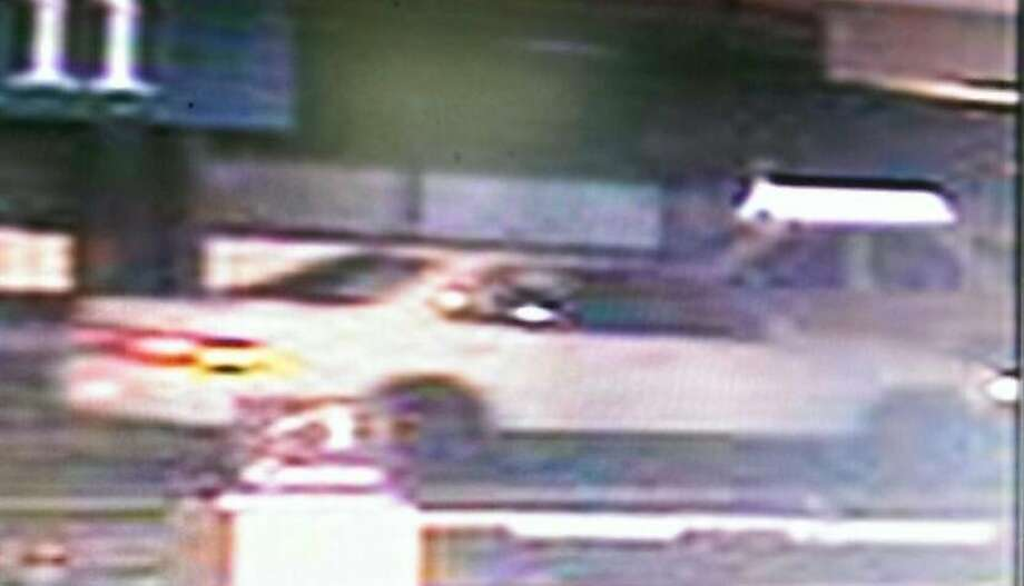 A photo released by the San Francisco Police Department shows a vehicle that allegedly struck and killed 2-year-old Mi'Yana Gregory on Friday, Aug. 15, 2014 in the South of Market area of San Francisco. The vehicle is described as a white, mid-90s four-door sedan; either a Camry, Honda, or Lexus with a dark colored mismatched front bumper and dark or black rims. Photo: SFPD