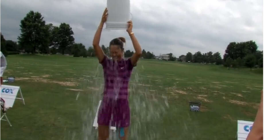 Michelle Wie Takes the ALS Ice Bucket Challenge Photo: YouTube