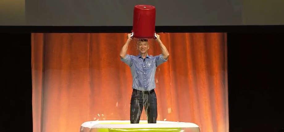 Amazon's Jeff Bezos Takes the ALS Ice Bucket Challenge Photo: YouTube