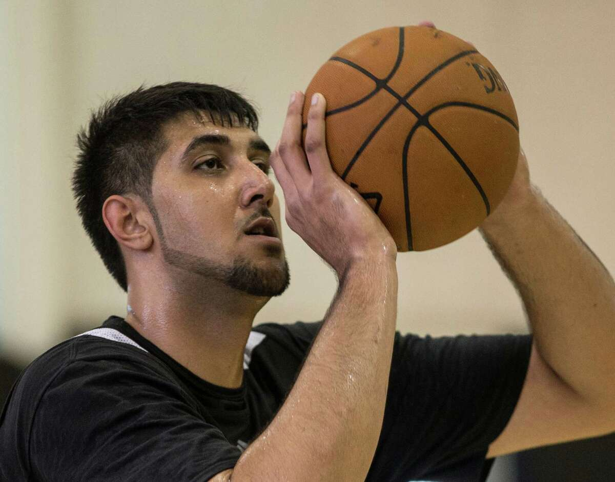 East Indian player Sim Bhullar, 7-foot-6 worked out today at the Raptors facilities in Air Canada Centre. June 11, 2014.