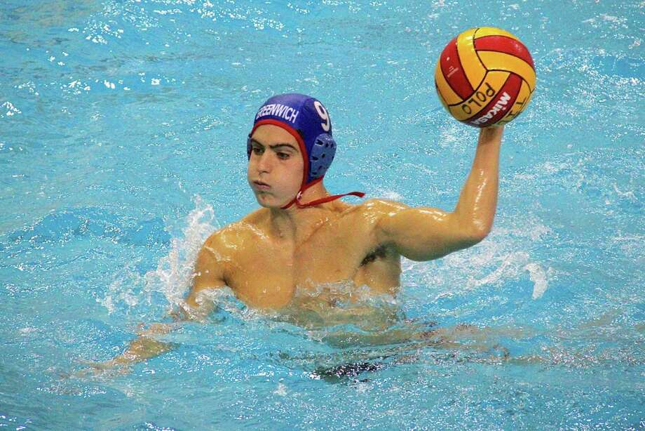 Lefty Tyler Triscari was the leading scorer for the Cardinals at the Beast of the East Water Polo Tournament held in the Reading, PA area this weekend. Tyler had 23 goals in the five games that Greenwich played. Photo: Contributed Photo / Greenwich Citizen