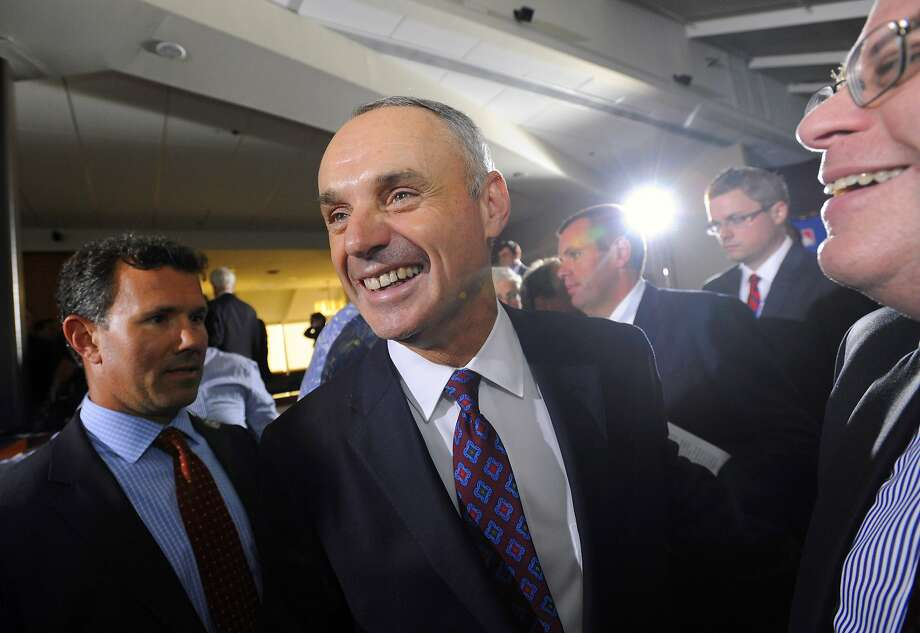 Commissioner-elect Rob Manfred said Bud Selig will leave big shoes to fill. Will he really? Photo: Steve Ruark, Associated Press