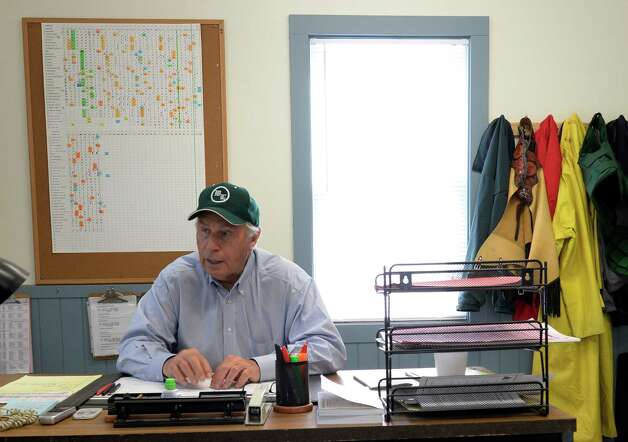 Trainer D. Wayne Lukas talks to the Times Union in his office Thursday, Aug. 7, 2014, at the Oklahoma Training Center in Saratoga Springs, N.Y. (Skip Dickstein/Times Union) Photo: SKIP DICKSTEIN