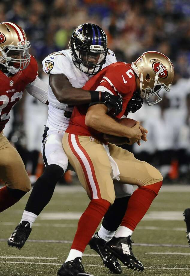 Blaine Gabbert Is Sacked By The Ravens C J Mosley In Preseason Opener And