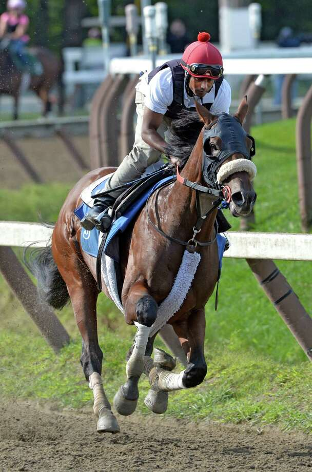 Jim Dandy winner Wicked Strong had his final blowout for the Travers Stakes Saturday morning Aug. 16, 2014 at the Saratoga Race Course  in Saratoga Springs, N.Y.   (Skip Dickstein/Times Union) Photo: SKIP DICKSTEIN