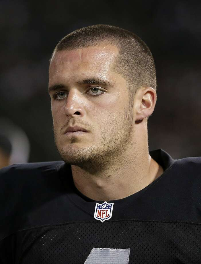 Oakland Raiders quarterback Derek Carr stands on the sideline during the second half of an NFL preseason football game against the Detroit Lions in Oakland, Calif., Friday, Aug. 15, 2014. (AP Photo/Marcio Jose Sanchez) Photo: Marcio Jose Sanchez, Associated Press