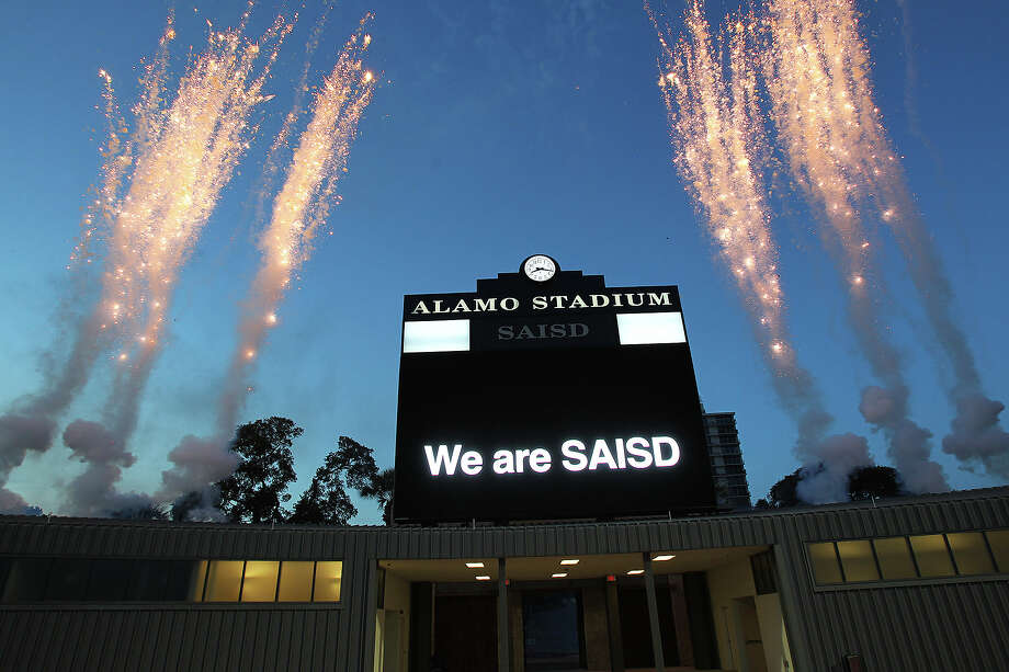 A fireworks display tops off the evening as SAISD officials rededicate 