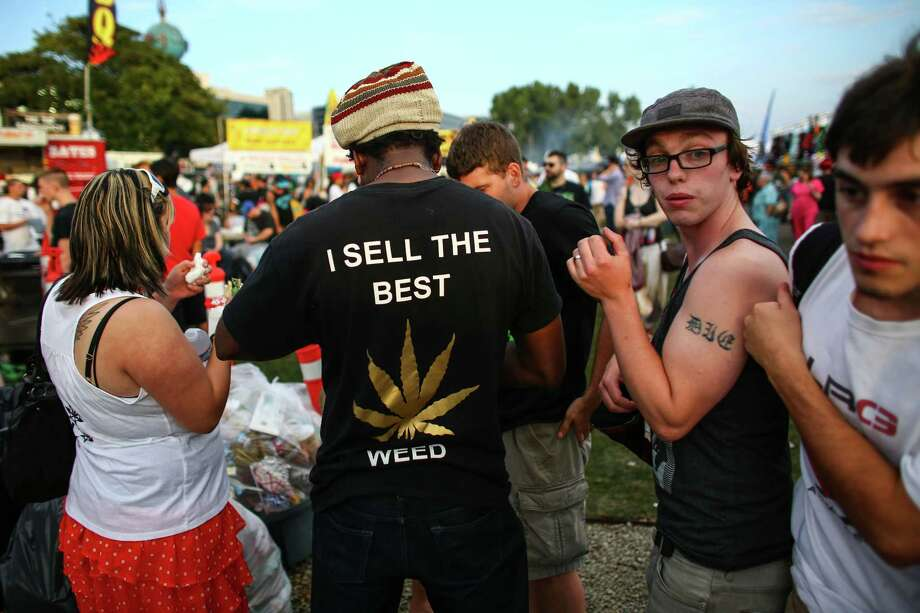 People negotiate prices for marijuana. Photo: JOSHUA TRUJILLO, SEATTLEPI.COM / SEATTLEPI.COM