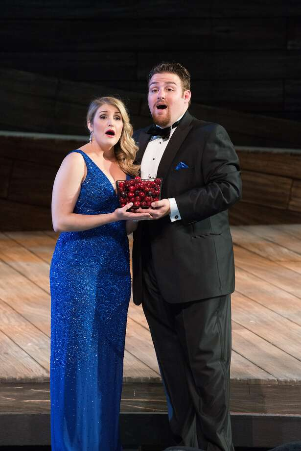 "Julie Adams (l.) and Casey Candebat in a duet from Mascagni's ""L'Amico Fritz"" at the Merola Grand Finale Photo: Kristen Loken"