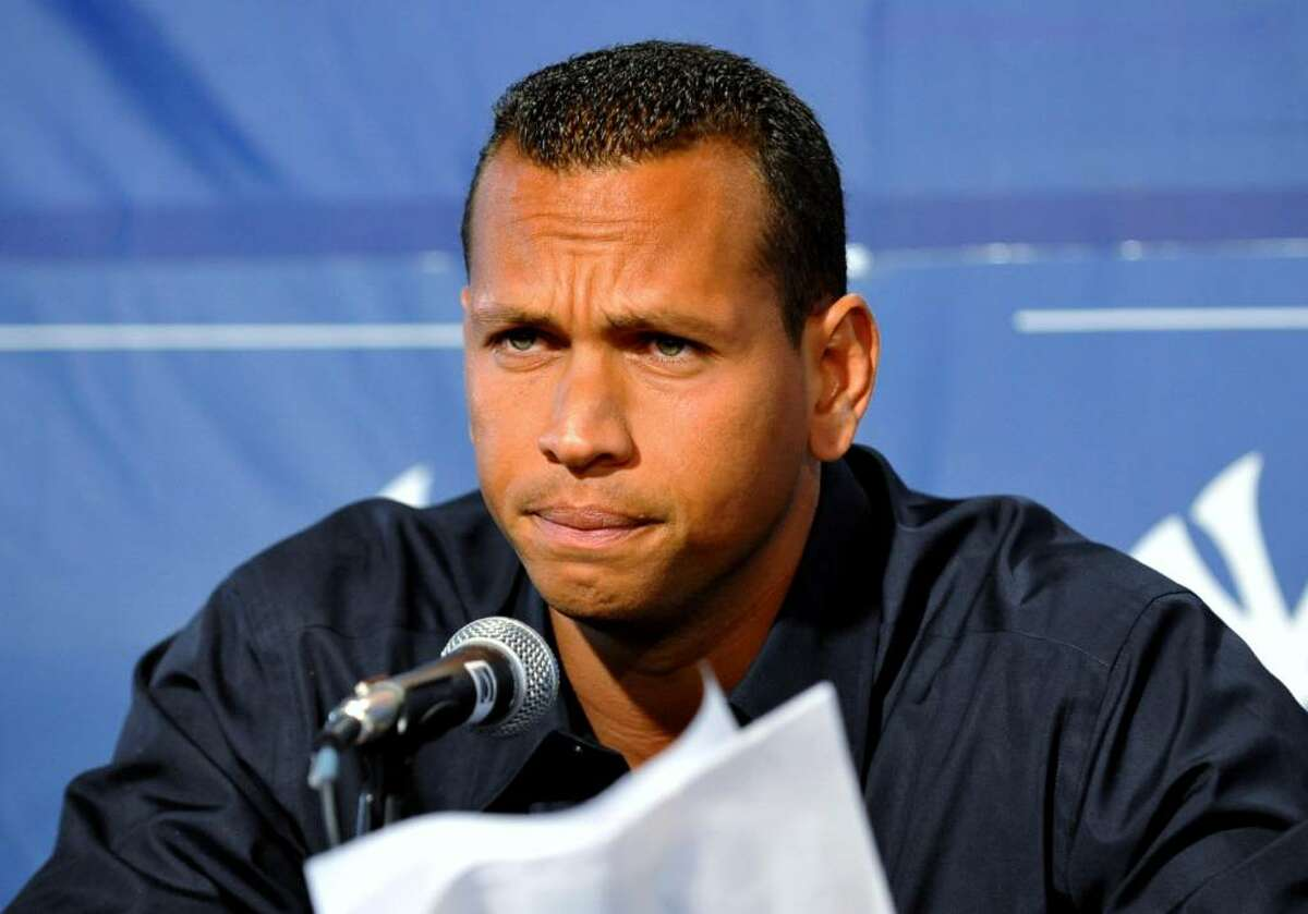 TAMPA - FEBRUARY 17: Infielder Alex Rodriguez of the New York Yankees talks during a press conference February 17, 2008 at the George M. Steinbrenner Field in Tampa, Florida. The Yankees third baseman admitted to taking a substance known as