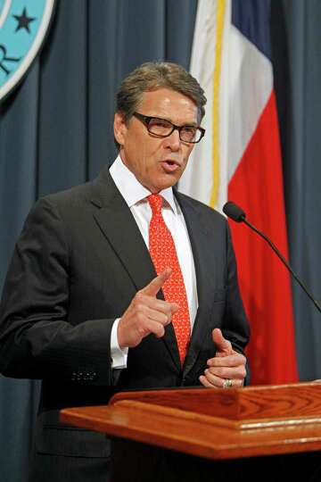 Gov. Rick Perry makes a statement in Austin, Texas on Saturday concerning the indictment on charges