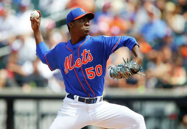 NEW YORK, NY - AUGUST 17:  Rafael Montero #50 of the New York Mets pitches against the Chicago Cubs at Citi Field on August 17, 2014 in the Flushing neighborhood of the Queens borough of New York City.  (Photo by Jim McIsaac/Getty Images) ORG XMIT: 477588195 Photo: Jim McIsaac / 2014 Getty Images