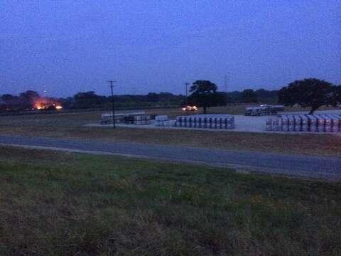 Grass fire near chemical plant - San Antonio Express-News
