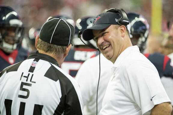 Texans coach Bill O'Brien found more to be happy about Saturday night than a pleasant conversation with one of the officials.