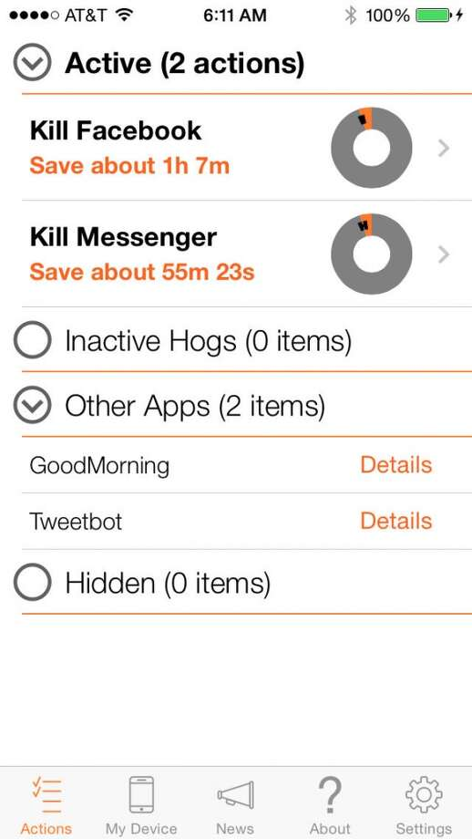 Normal uses crowdsourced data to identify and flag apps on your iPhone that are known battery hogs. Photo: Normal