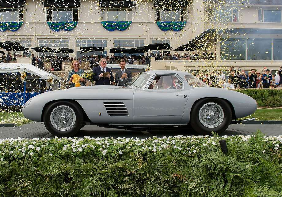 Jon Shirley, of Medina, Wash., wins best of show in his 1954 Ferrai 375MM Scaglietti Coupe at the 2014 Pebble Beach Concours d'Elegance in Pebble Beach, Calif., on Sunday, Aug. 17, 2014.  Photo: Reg Regalado, Associated Press