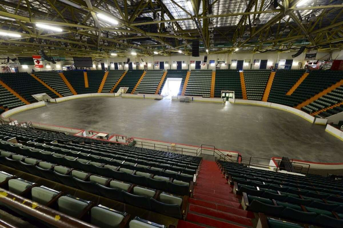 Interior view of the Glens Falls Civic Center, which had no bidders. The auction was called off by the city of Glens Falls. (Skip Dickstein/Times Union)