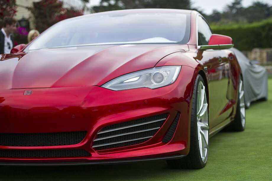 A Saleen Automotive Inc. Tesla Motors Inc. Foursixteen automobile is displayed during the 2014 Pebble Beach Concours d'Elegance in Pebble Beach, California, U.S., on Saturday, Aug. 16, 2014. Photo: David Paul Morris, Bloomberg