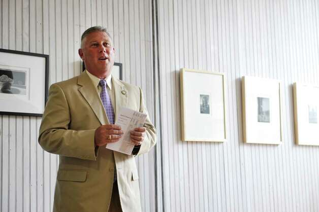 Assemblyman John McDonald addresses those gathered during a press conference at the Denise Saint-Onge Visual Art gallery Monday, Aug. 18, 2014, in Troy, N.Y. (Paul Buckowski / Times Union) Photo: Paul Buckowski / 00028212A