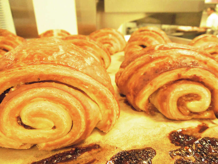 Butterscots croissants have ingredients between the layers Photo: San Francisco Chronicle