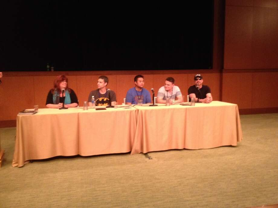 Gail Simone,  Chris Burnham, Pop Mhan, ; and Scott Snyder and Greg Capullo