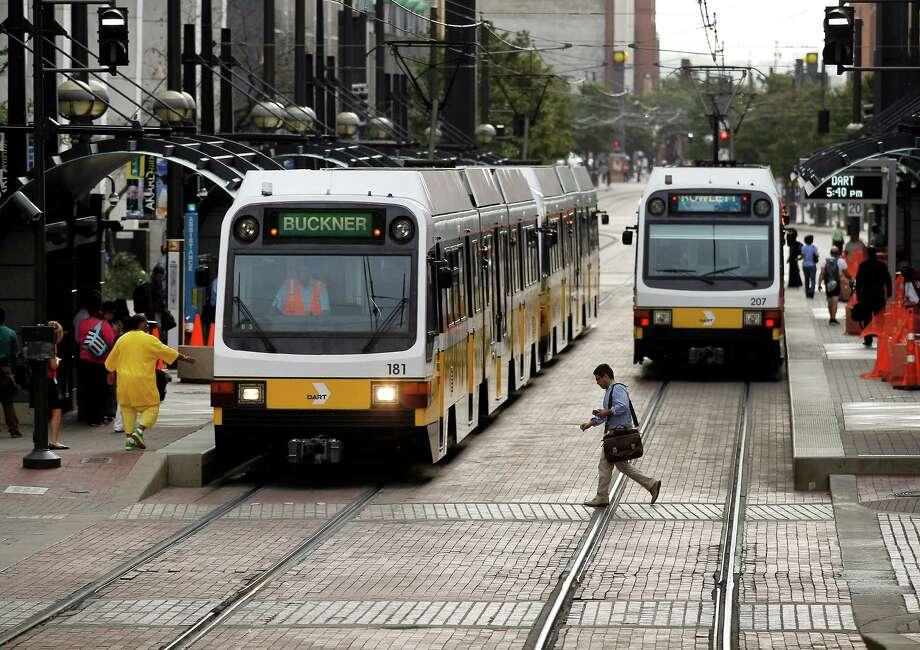 DART trains in Dallas. Photo: Brad Loper, Staff Photographer / 00018797A