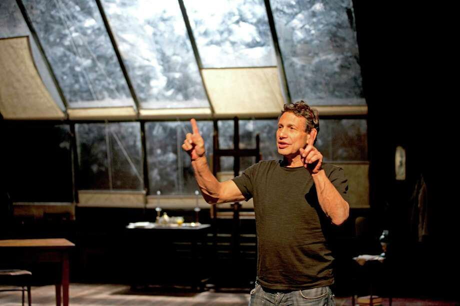 "Long Wharf Theatre artistic director Gordon Edelstein will be staging three of the six plays in the upcoming 50th anniversary season, including ""Our Town"" which starts performances October 9. Here he is seen on the set of his 2012 hit ""My Name is Asher Lev"" which transferred from the New Haven venue to a successful run in New York City. Photo: Contributed Photo / Connecticut Post Contributed"