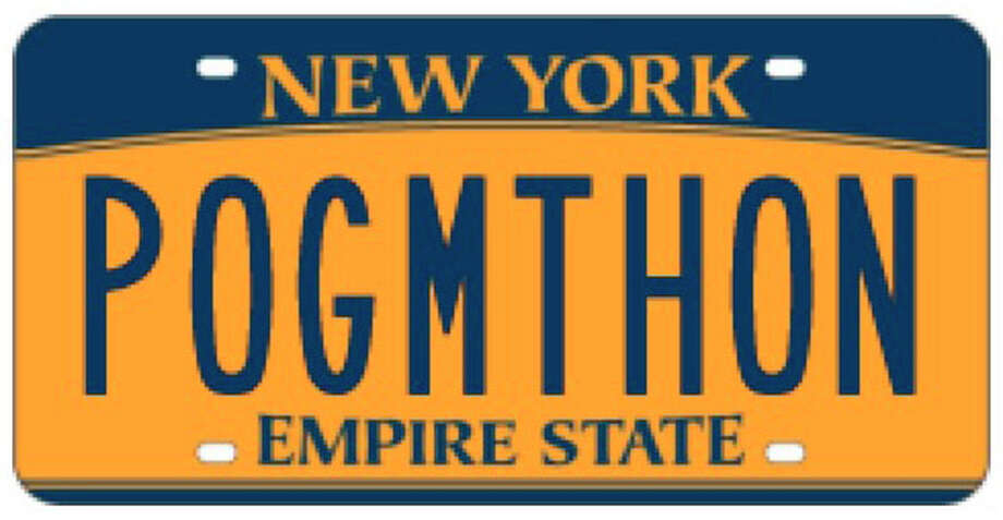 "Have you seen this New York license plate around the Capital Region? We have. For the non-Irish out there: ""Póg mo thóin"" is Gaelic for ""kiss my arse."" Click through the photos to see more attention grabbing licenese plates from around the country. Photo: DMV"