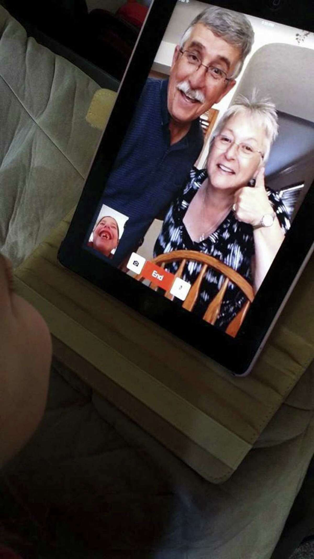 When Erin Fuller of Seattle was about to lose a tooth, she connected with grandparents John and Robin White, in San Antonio, on FaceTime for a little advice.