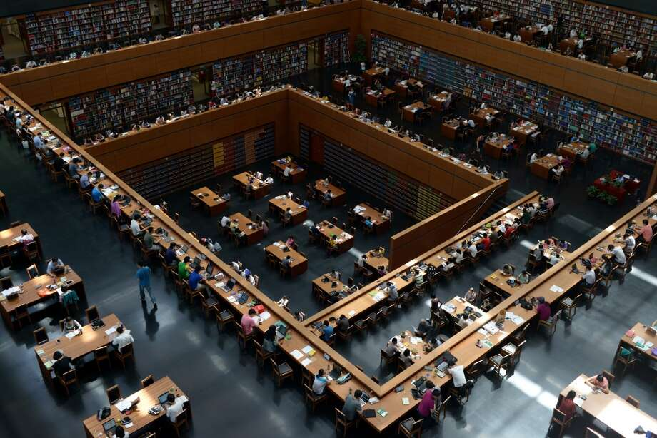 The vast National Library of China, in Beijing,  holds more than 30 million items. Photo: AFP, Getty Images