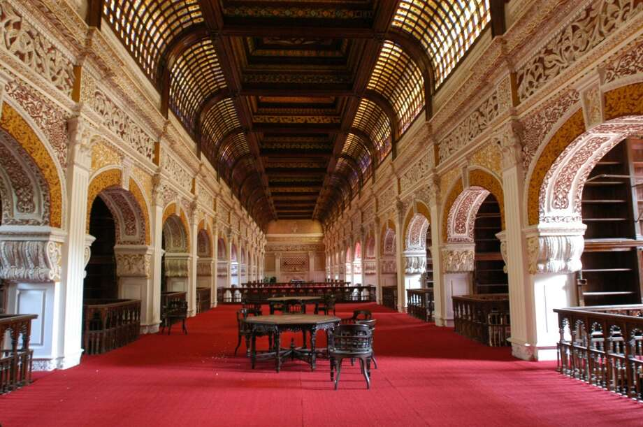 Lined with carved teak, the Connemara Public Library, in Chennai, Tamil Nadu, India, dates to 1896. Photo: The India Today Group, Getty Images