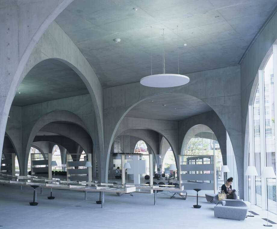 Tokyo's Tama Art University Library (2007) is supported by rows of elegant colonnades. Photo: View Pictures, UIG Via Getty Images
