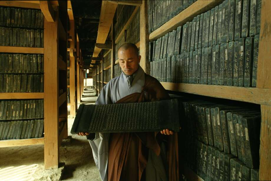 The Tripitaka Koreana collection, in South Gyeongsang province, in South Korea, 