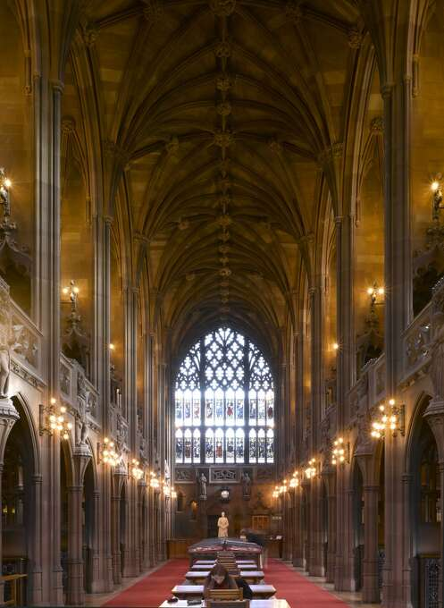 The old reading room of the John Rylands Library in Manchester, England, opened on Jan. 1, 1900. Photo: View Pictures, UIG Via Getty Images