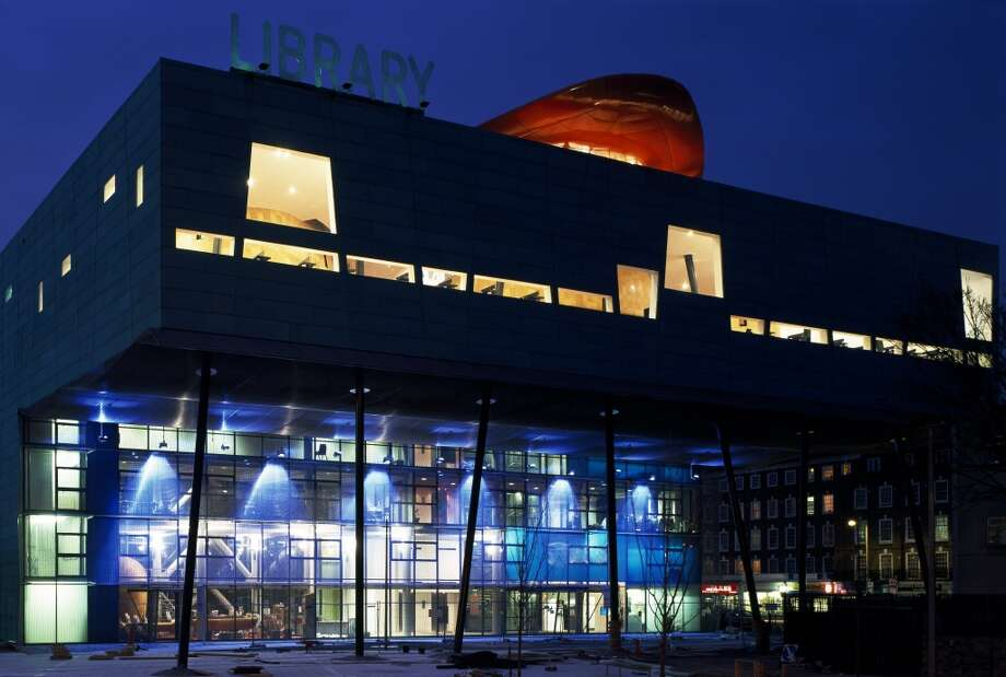 The colorful Peckham Library, in London, was inaugurated in 2000. Photo: View Pictures, UIG Via Getty Images