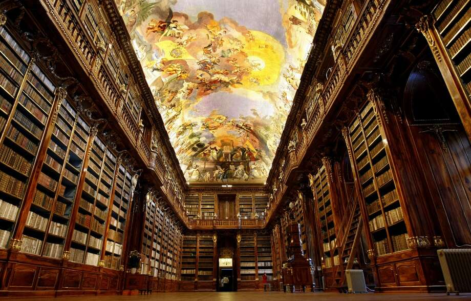 The glorious Philosophical Hall of Prague's Strahov Monastery, founded in 1143, was built in 1782. Photo: Isifa, Getty Images