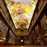 The glorious Philosophical Hall of Prague's Strahov Monastery, founded in 1143, was built in 1782.