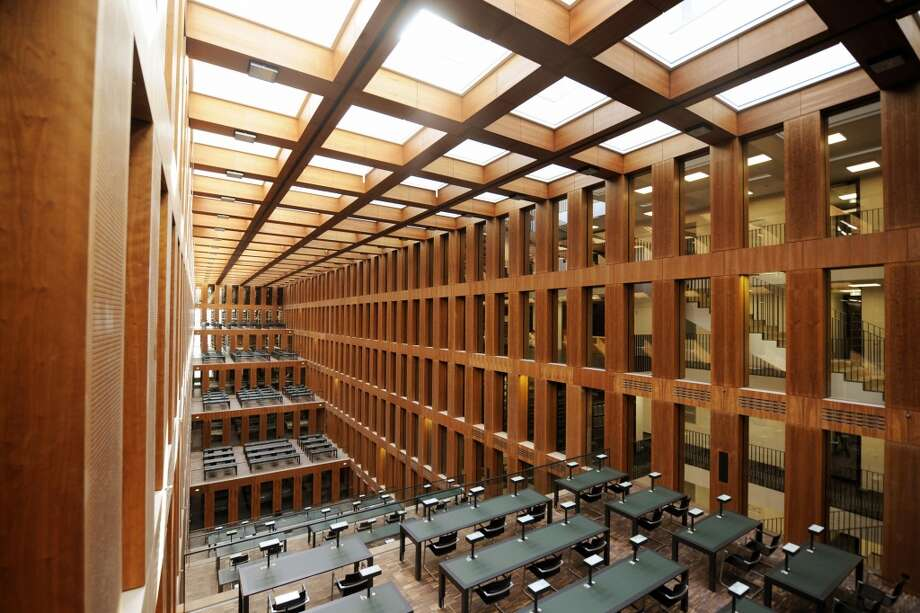 The Jacob and Wilhelm Grimm Center, at the Humboldt University of Berlin, opened in 2009. The library was named in honor of the Brothers Grimm, who, in addition to collecting fairy tales, worked on a monumental German dictionary that they were not able to complete. Photo: Axel Schmidt, AFP/Getty Images