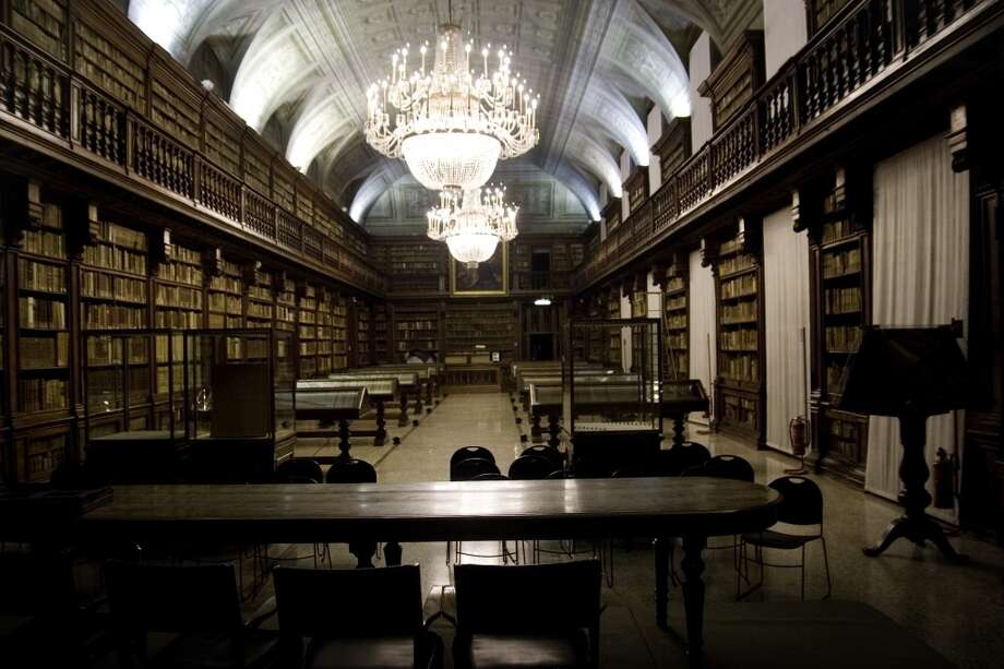 The Braidense Library (1786) in Milan, Italy, was once used by the Jesuits as a study room. Photo: Massimo Di Nonno, Getty Images