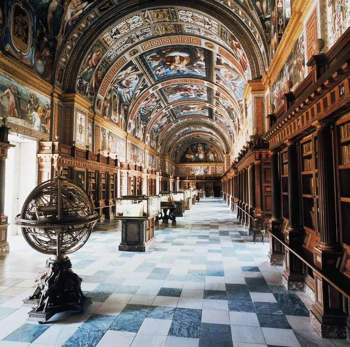 The Royal Library of the Monastery of San Lorenzo de El Escorial, near Madrid, dates to 1592. Photo: DEA / M. Carrieri, De Agostini/Getty Images