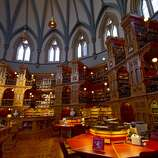 The Library of Parliament, opened in 1876 in Ottawa, Canada, contains thousands of carvings of mythical beasts, masks and flowers.