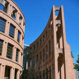 The circular Vancouver Public Library (1995) evokes the Roman Colosseum.