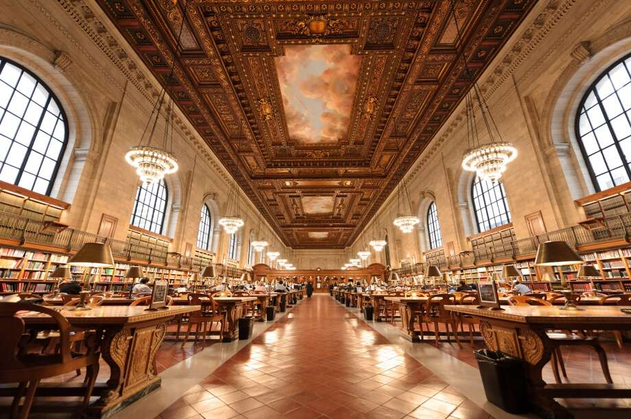 The majestic main reading room of the New York Public Library, opened in 1911, is roughly the length of two city blocks. Photo: Andreas Schott, Flickr Vision