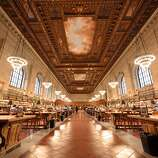 The majestic main reading room of the New York Public Library, opened in 1911, is roughly the length of two city blocks.