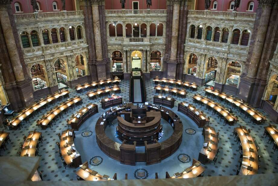 The largest library in the world, the Library of Congress (1800) holds more than 158 million items. Photo: Brendan Smialowski, AFP/Getty Images
